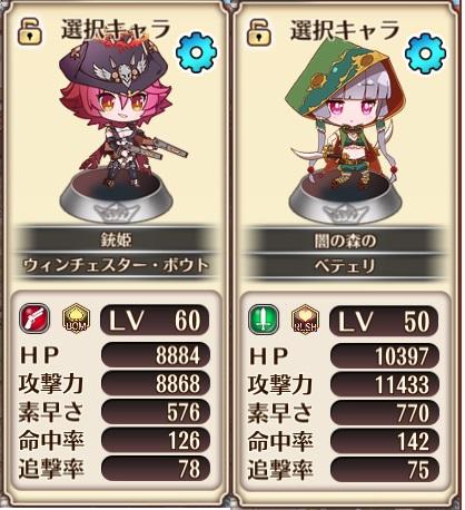 ☆4キャラクターと☆5キャラクターの比較